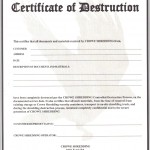 certificate of destruction templates 9 free format